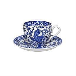 Burleigh Blue Regal Peacock Teacup & Saucer