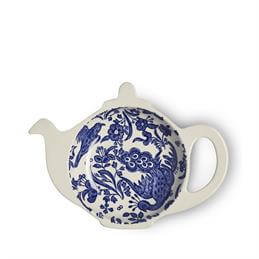 Burleigh Blue Regal Peacock Teabag Tidy