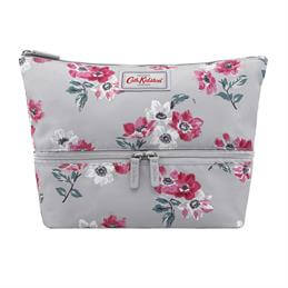 Cath Kidston Small Anemone Bouquet Double Decker Cosmetic Bag