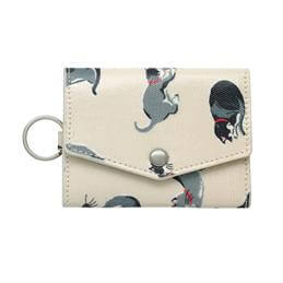 Cath Kidston Small Painted Cats Folded Card Holder with Keyring
