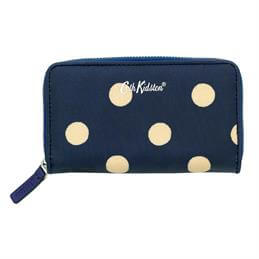 Cath Kidston Navy Button Spot Small Continental Wallet