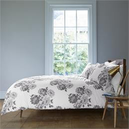 Cath Kidston Grey Peony Blossom Quilt Cover