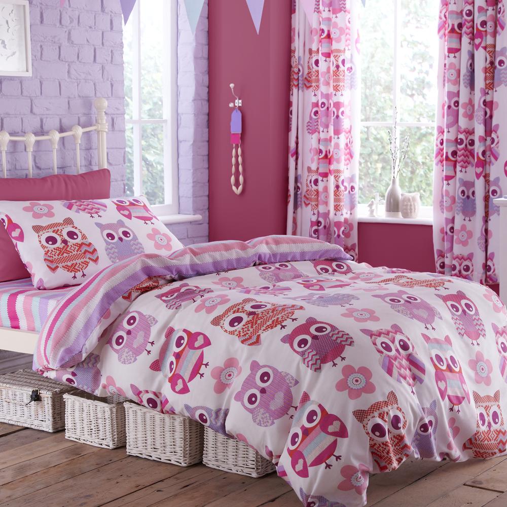 Catherine Lansfield Owl Duvet Cover Set | Childrens Bedroom ... : owl quilt cover - Adamdwight.com