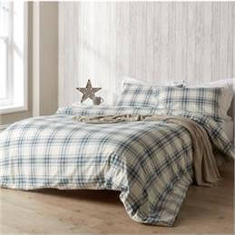 Christy Thurloe Check Flannelette Denim Duvet Set