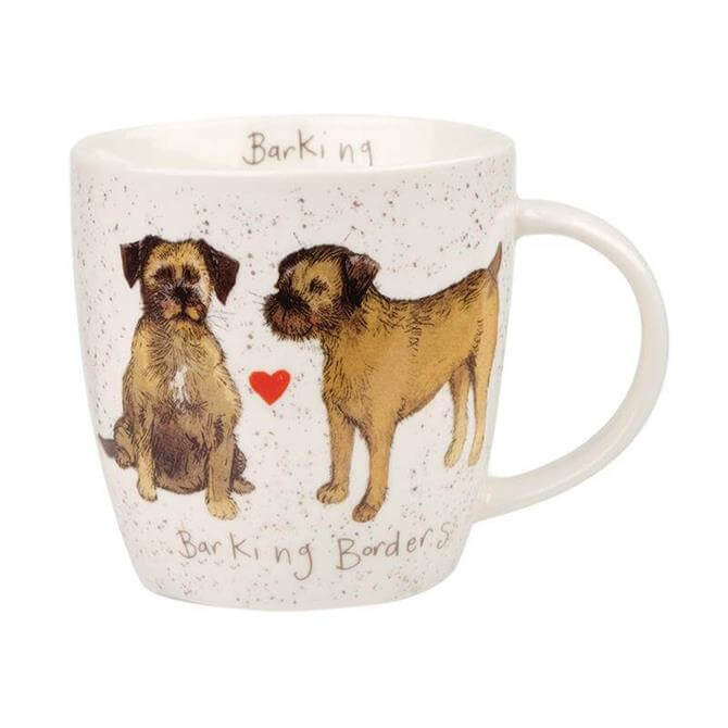 Churchill Alex Clark Delightful Dogs Barking Borders Mug