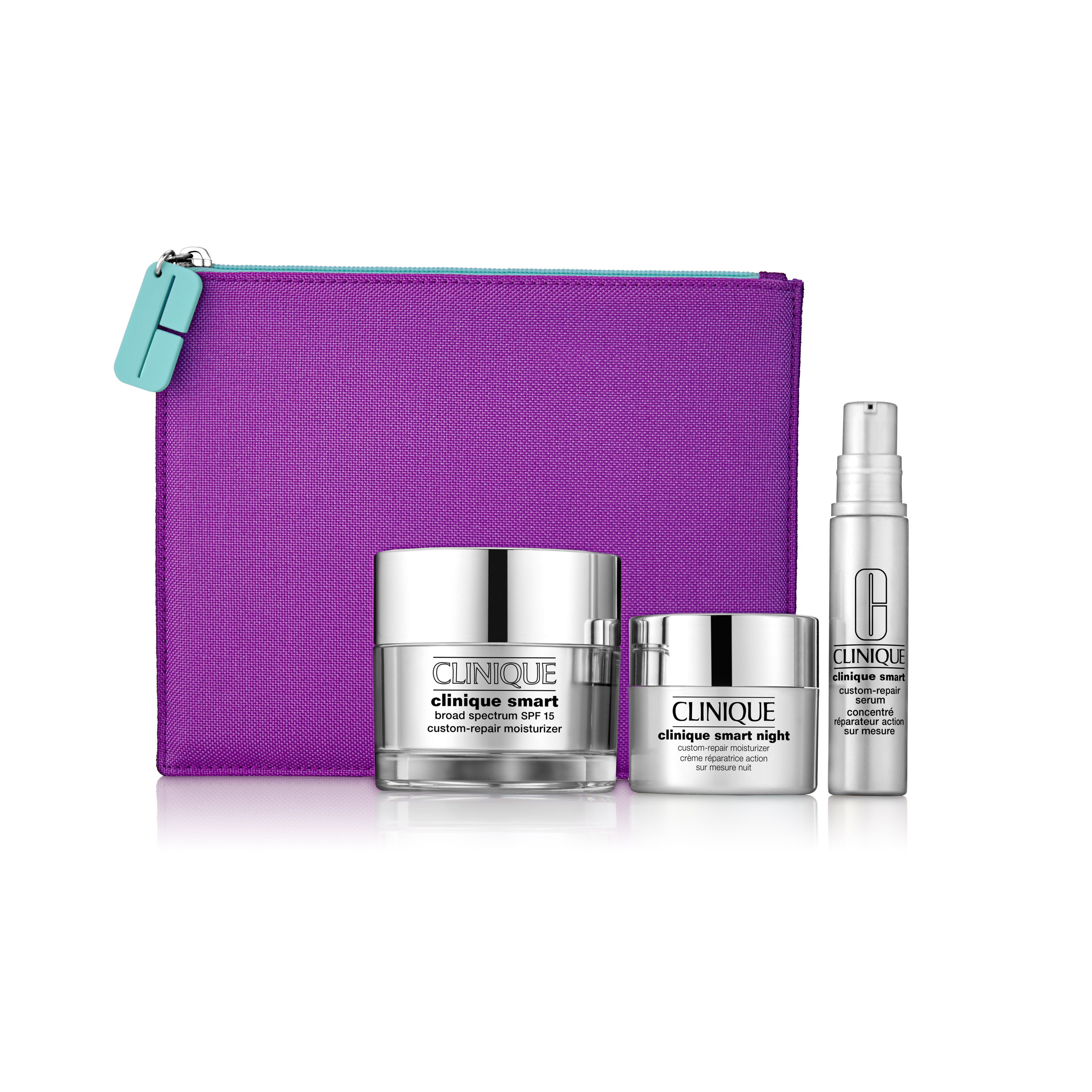 9aa1ffa504 Clinique Smart   Smooth Set + Cosmetic Bag