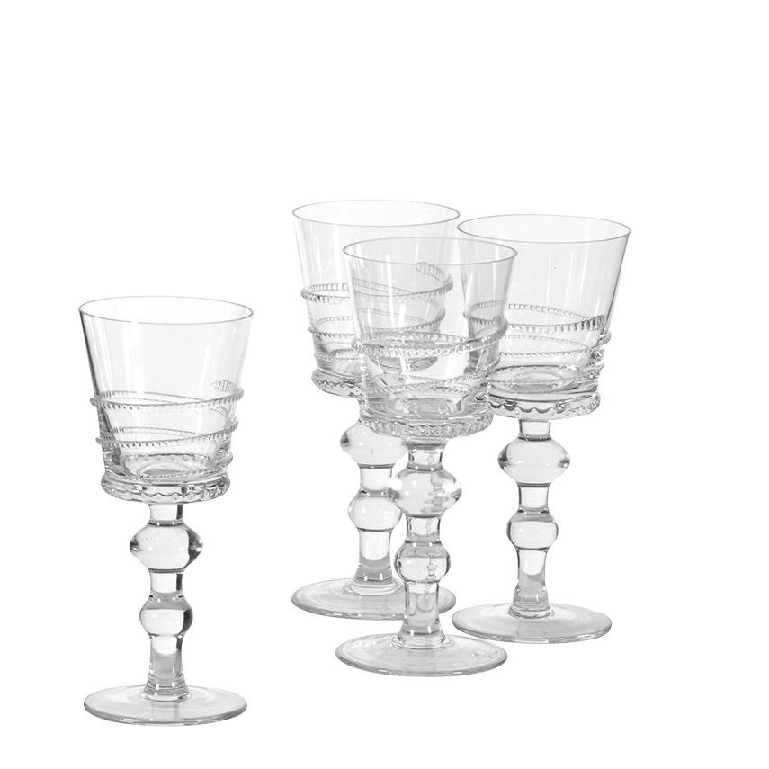 coach house set of 4 zip deco wine glasses jarrold norwich. Black Bedroom Furniture Sets. Home Design Ideas