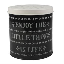 Creative Tops Stir It Up Round Storage Tin: Enjoy The Little Things In Life