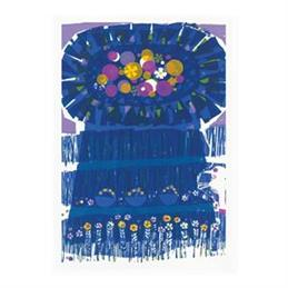 David Weidman Blue Flower Tree Tea Towel