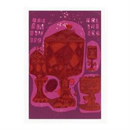David Weidman Red Chalice Tea Towel