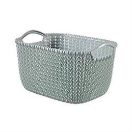 Curver Resin Knit Rectangular Basket: 8 Litre