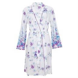 Cyberjammies Andrea Woven Floral Print Short Robe