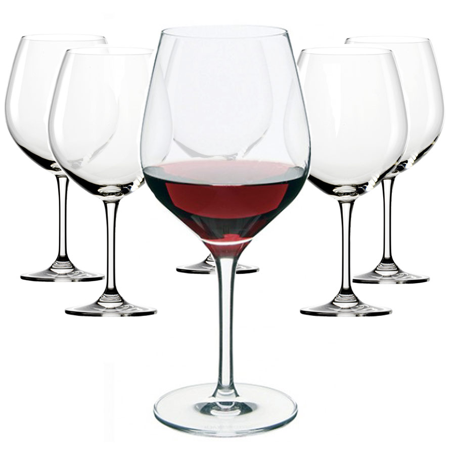 dartington set of 6 large red wine glasses jarrold norwich