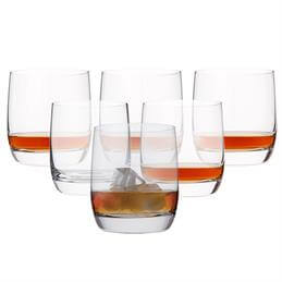 Dartington Set Of 6 Crystal Glass Tumblers