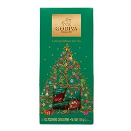 Godiva Assorted Chocolate Squares Christmas Pouch