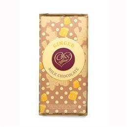 Choc Affair Ginger Milk Chocolate Bar 90g