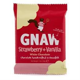 Gnaw Strawberry & Vanilla White Chocolate Mini Bar 50g
