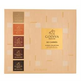 Godiva Chocolates Classic Collection: 60 Chocolate Squares