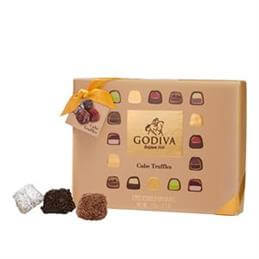 Godiva Chocolates Cube Truffles: Box of 12