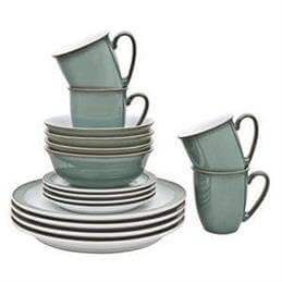 Denby Regency Green 16 Piece Dining Set