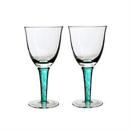 Denby Regency Green White Wine Glasses: Set Of 2