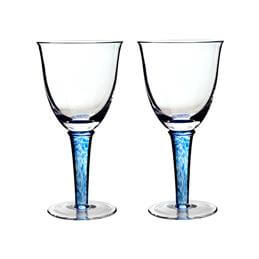 Denby Imperial Blue White Wine Glasses: Set Of 2
