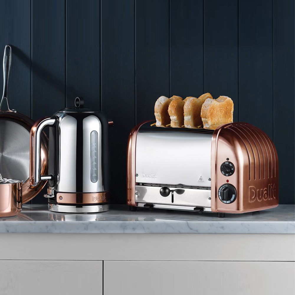 Dualit classic copper kettle jarrold norwich for Kitchen 17 delivery