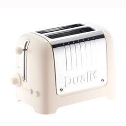 Dualit Lite 2 Slice Toaster Canvas White