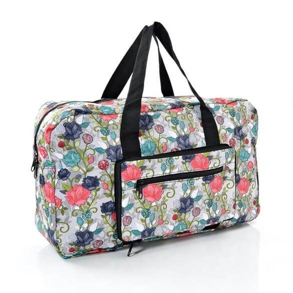 Eco Chic Rose Print Foldaway Holdall   Holdalls   Tote Bags ... d31067ea1a