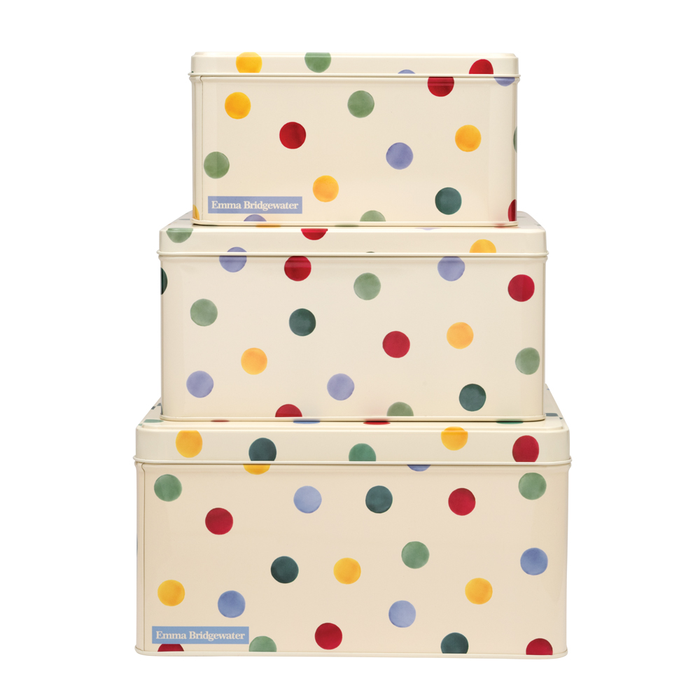 Elite Emma Bridgewater Polka Dot Cake Tin: Square (Various ...