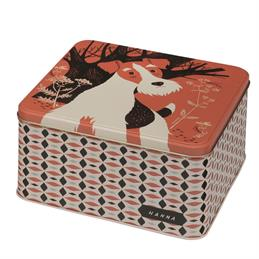 Elite Hanna Dog Square Storage Tin
