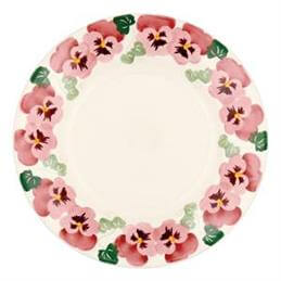 Emma Bridgewater Pink Pansy Dinner Plate 10.5in (27.5cm)
