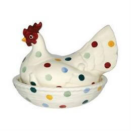 Emma Bridgewater Polka Dot Large Hen On Nest