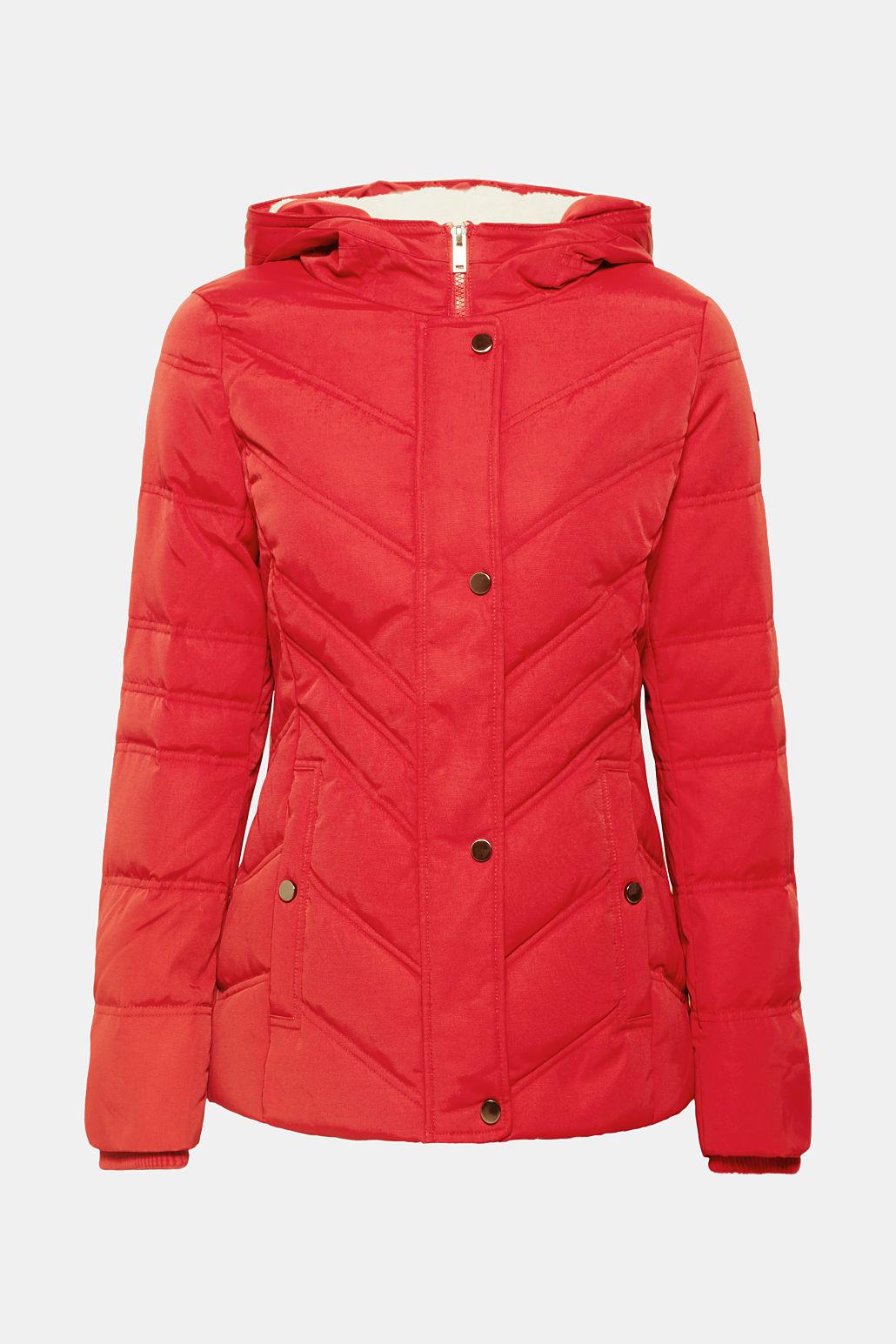 Esprit Women S Teddy Fur Lined Hood Padded Jacket Coats Jackets
