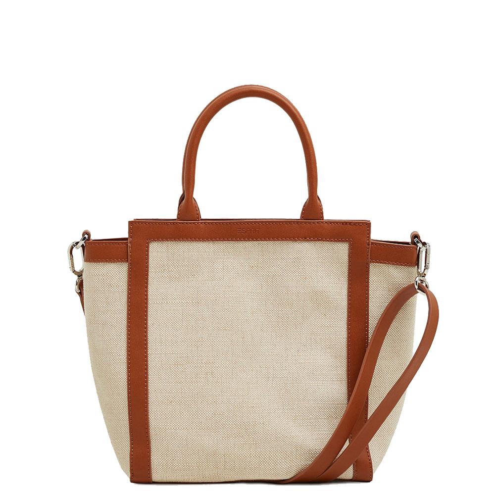 46e5e4728 Esprit City Cotton-Linen Faux Leather Trim Bag | Handbags & Purses ...