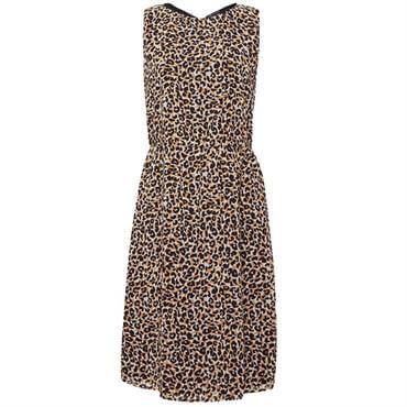 92aa92588af ... Esprit Leopard Print Bow Detail Sleeveless Dress