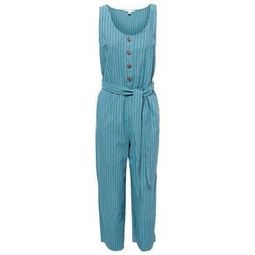 6b9002beb5 Esprit Striped Linen and Organic Cotton Jumpsuit