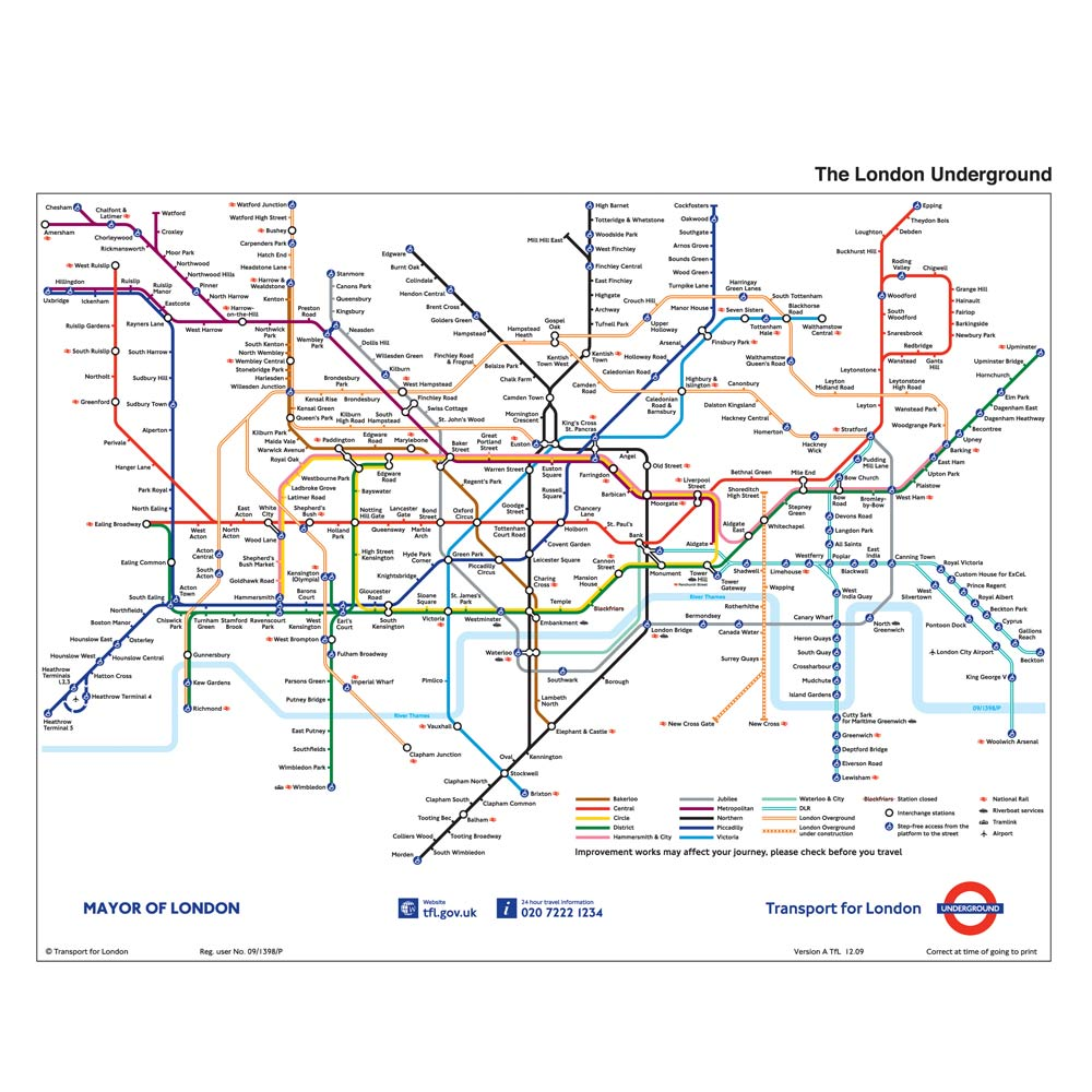 Filofax Personal Diary London Underground Map Diaries