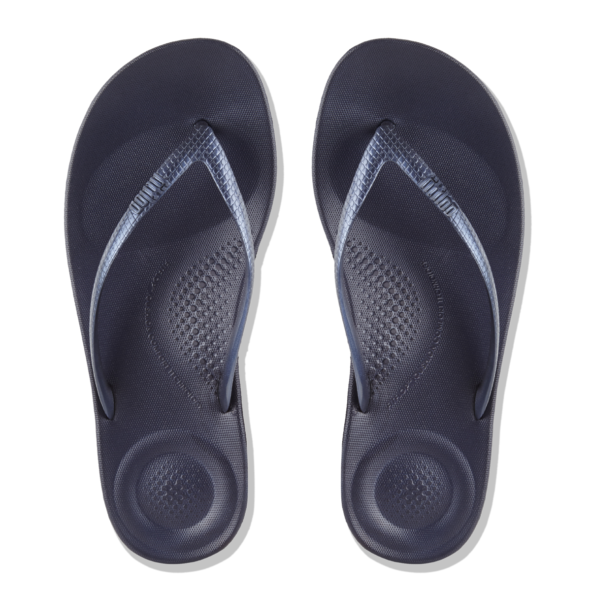 fad3e6561 FitFlop™ iQushion™ Ergonomic Navy Flip-Flops