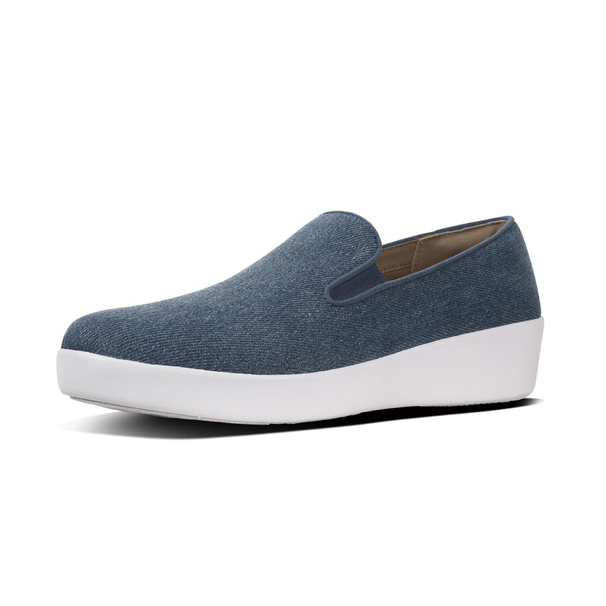 ba42e152dcd2cf FitFlop™ Superskate™ Loafers - Shimmer-Denim