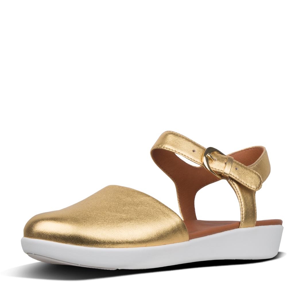 2d162eb169be FitFlop™ Cova™ Ii Metallic Leather Closed-Toe Sandals