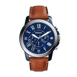 Fossil Grant Chronograph Light Brown Leather Watch