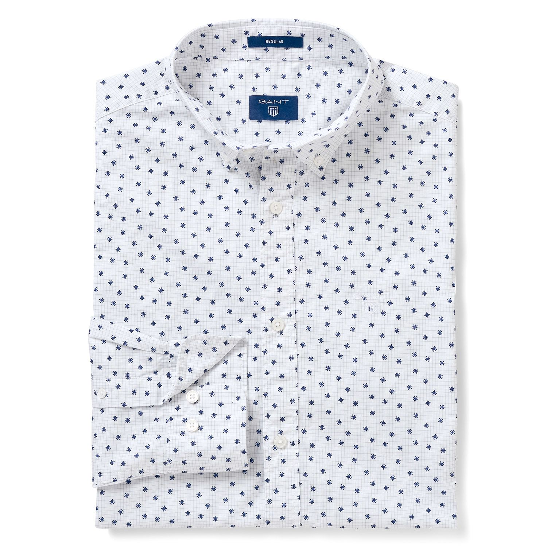 12c377a917 GANT Men's Regular Fit Micro Snowflake Print Shirt | Shirts | Shirts ...