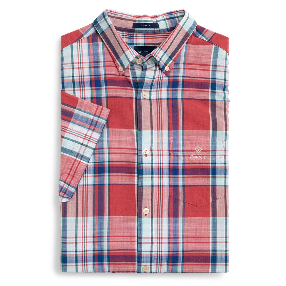 GANT Men s Madras Check Short Sleeve Shirt  80288ef15fe5
