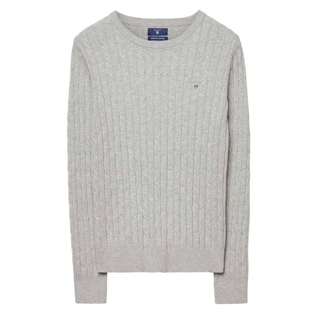 GANT Stretch Cotton Cable Knit Crew Sweater  dc66a8c8f917