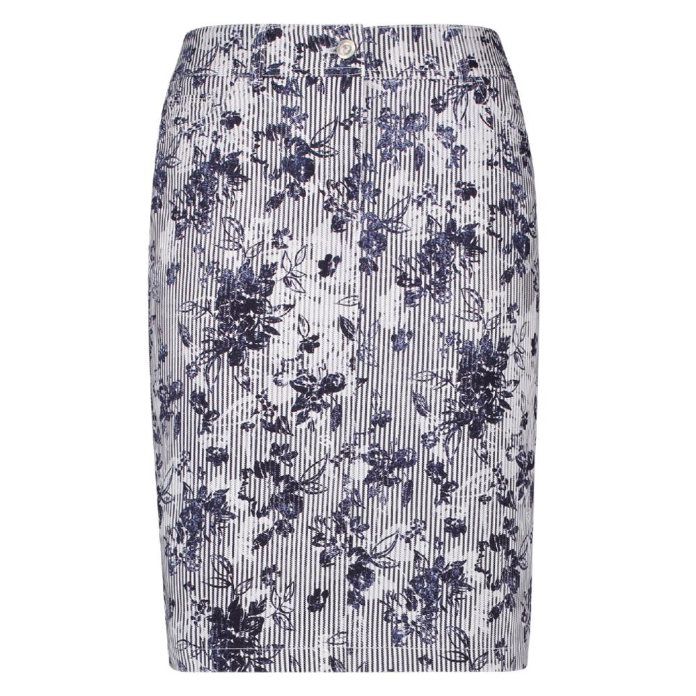 de05d3d0a5 Gerry Weber Stripe & Floral Pencil Denim Skirt   Skirts   Skirts ...