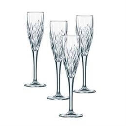 Nachtmann Imperial Crystal Sparkling Wine / Champagne Flutes: Set of 4