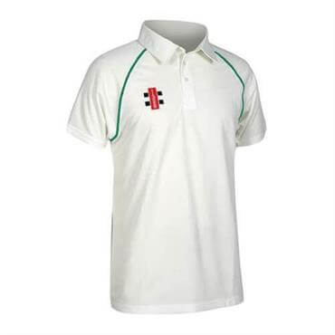 af63bea51e9 Gray Nicolls Junior Ivory Matrix Short Sleeve Cricket Shirt