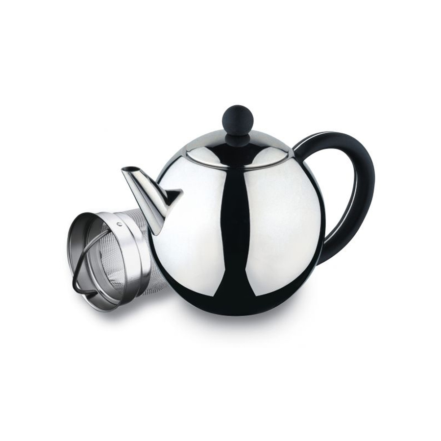 Grunwerg rondo stainless steel teapot with infuser jarrold norwich - Tea pots with infuser ...