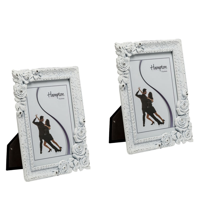 Hampton Frames Rosebud White Distressed Frame   Photo & Picture ...